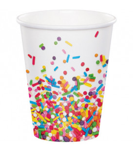 Bicchiere carta 266 ml Codette - Sprinkles 8 pz