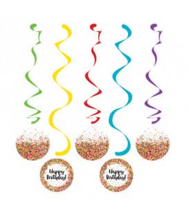 Set 5 pendenti 99 e 76 cm Codette - Sprinkles 5 pz