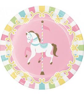 Piatto 18 cm Giostra - Carousel 8 pz
