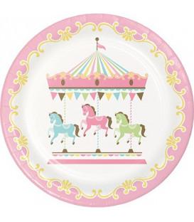 Piatto 23 cm Giostra - Carousel 8 pz