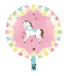 "Pallone foil 18"" - 45 cm Giostra - Carousel 1 pz"