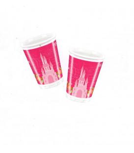 Bicchieri di Plastica 180 - 200 cc Princess Summer Palace Disney