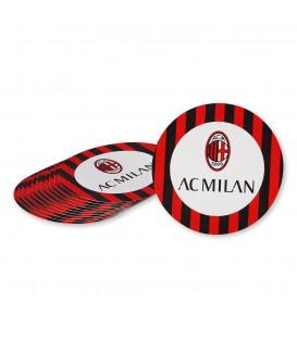 Sottobicchiere cartoncino 10 cm Milan 12 pz