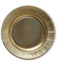 Piatti Piani di Carta a Righe Oro Metallizzato Lucido