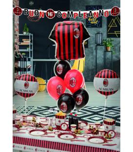 Decorazione Buon Compleanno Milan 1 pz