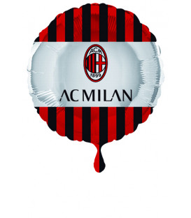 """Pallone foil 17"""" - 43 cm Milan 1 pz"""