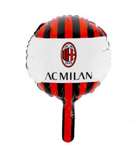 "Pallone foil CON VALVOLA 9"" - 23 cm Milan - SI GONFIA AD ARIA 1 pz"