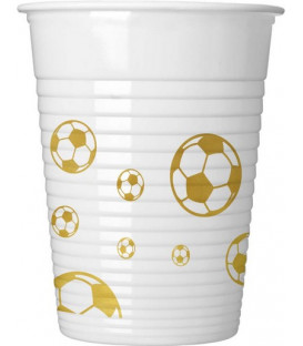 Bicchiere plastica 200 ml Calcio Football Gold 8 pz
