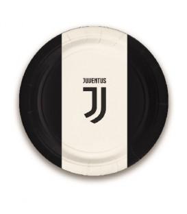 Piatto 18 cm Juventus 8 pz