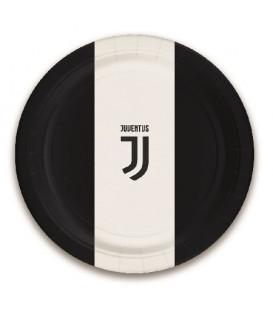 Piatto 23 cm Juventus 8 pz