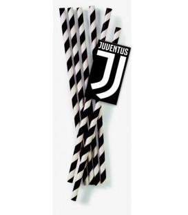 Cannucce Carta Juventus 19,5 cm 12 pz