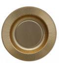 Piatti Fondi di Carta a Righe Oro Satinato Metallizzato