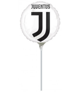 "Pallone foil CON VALVOLA 9"" - 23 cm Juventus - SI GONFIA AD ARIA 1 pz"