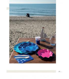 Piatti Piani di Carta a Petalo Ocean