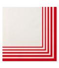 Tovaglioli Compostabili 3 veli Rosso 33x33 cm 3 confezioni