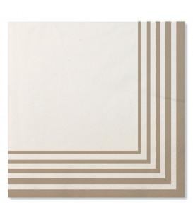 Tovaglioli Compostabili Bianco Tortora 33 x 33 cm 3 confezioni