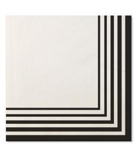 Tovaglioli Compostabili 3 veli 33x33 cm Bianco Nero 3 confezioni