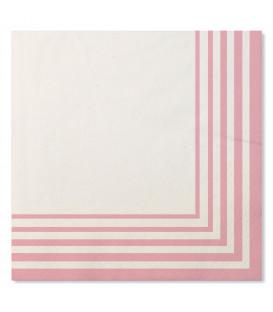 Tovaglioli Compostabili Bianco Rosa Quarzo 33 x 33 cm 3 confezioni