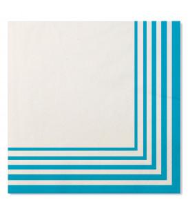 Tovaglioli Compostabili Bianco Turchese 33 x 33 cm 3 confezioni