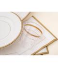 Bicchieri di Plastica Bordo Oro Classic Gold 300 cc