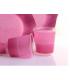 Bicchieri di Plastica Bicolore Pink - Lilla 250 cc