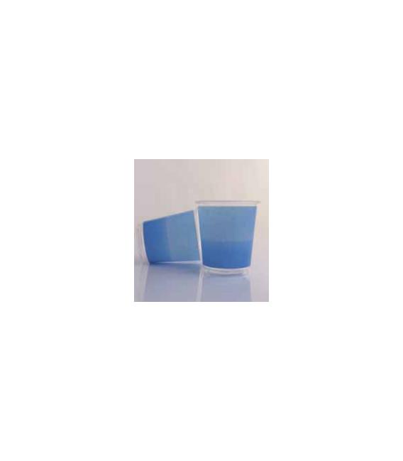 Bicchieri di Plastica Bicolore Turchese - Blu Cobalto 250 cc