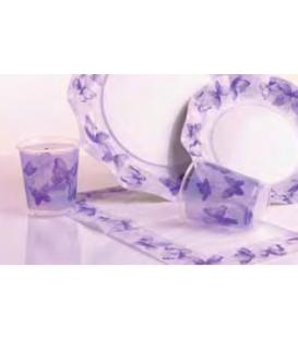 Bicchieri di Plastica Farfalla Viola 250 cc