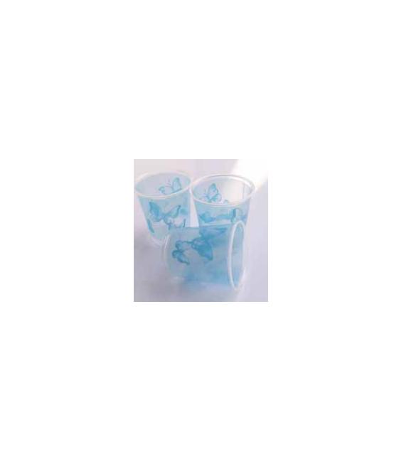 Bicchieri di Plastica Farfalla Turchese 250 cc