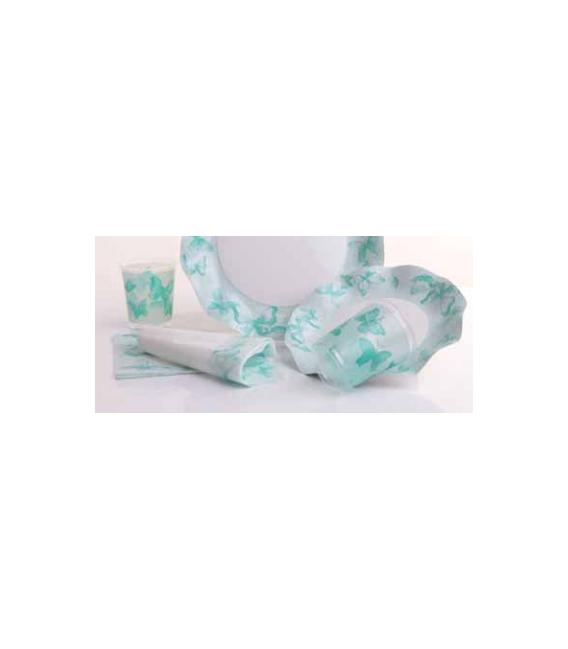 Bicchieri di Plastica PPL Farfalla Verde 250 cc