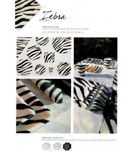 Piatti Piani di Carta a Petalo Zebra 27 cm