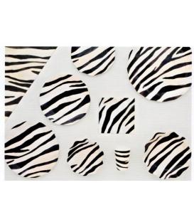 Piatti Piani di Carta a Petalo Zebra