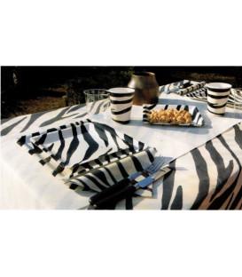 Tovaglia in TNT Zebra in rotolo 1,40 x 7 mt