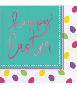 Tovagliolo 33 x 33 cm Easter Egg metallizzato 3 confezioni
