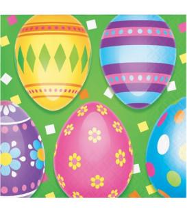 Tovagliolo 25 x 25 cm Colorful Easter Eggs 3 confezioni