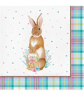 Tovagliolo 33 x 33 cm Storybook Easter Bunny 3 confezioni