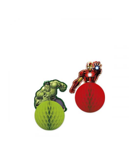 Decorazione Avengers 3D 26 cm 2 Pz