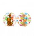 "Palloncino Scooby Doo tondo 26"" - 66 cm Trasparente 1 Pz"