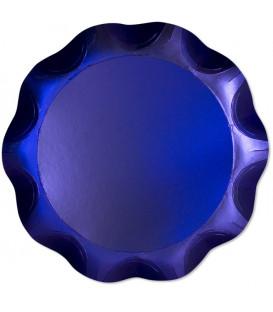Vassoio Tondo 30 cm Blu Satinato 1 Pz
