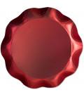 Vassoio Tondo 30 cm Rosso Satinato 1 Pz