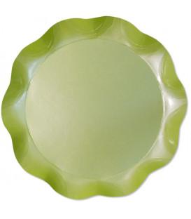 Vassoio Tondo 30 cm Verde chiaro Perlato 1 Pz