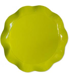 Vassoio Tondo 30 cm Verde Lime 1 Pz
