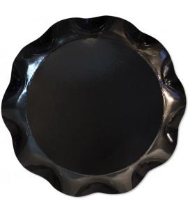 Vassoio Tondo 30 cm Nero 1 Pz