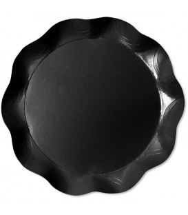 Vassoio Tondo 30 cm Nero Opaco 1 Pz