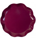 Vassoio Tondo 30 cm Bordeaux 1 Pz
