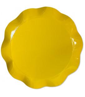 Vassoio Tondo 30 cm Giallo 1 Pz
