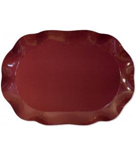 Vassoio Rettangolare Bordeaux 46 x 31 cm 1 Pz