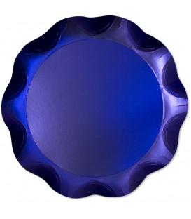 Vassoio Tondo 40 cm Blu Satinato 1 Pz