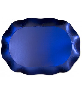 Vassoio Rettangolare Blu Satinato 46 x 31 cm 1 Pz