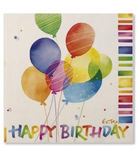 Tovaglioli 3 Veli Happy Birthday 33x33 cm 3 confezioni