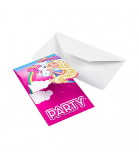 Inviti BARBIE DREAMTOPIA 8 Pz